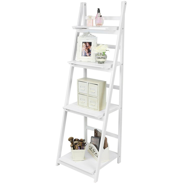 Kitchen shelves light blue jpg w 220 amp h 220 amp q 85 - Hartleys 4 Tier Folding Ladder Shelf White