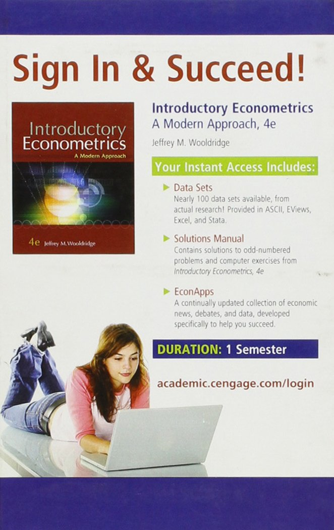 Introductory econometrics a modern approach 4th edition jeffrey m introductory econometrics a modern approach 4th edition jeffrey m wooldridge 9780324660609 amazon books fandeluxe Images