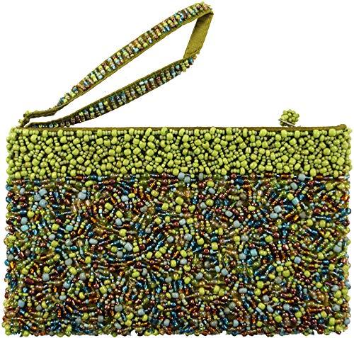 Mixte De Sac shop Avec À Size Perles one 12x19x2 Cm Size Cosmétiques Adulte Sacs Décorations Vert Guru x8Y5qnwdY