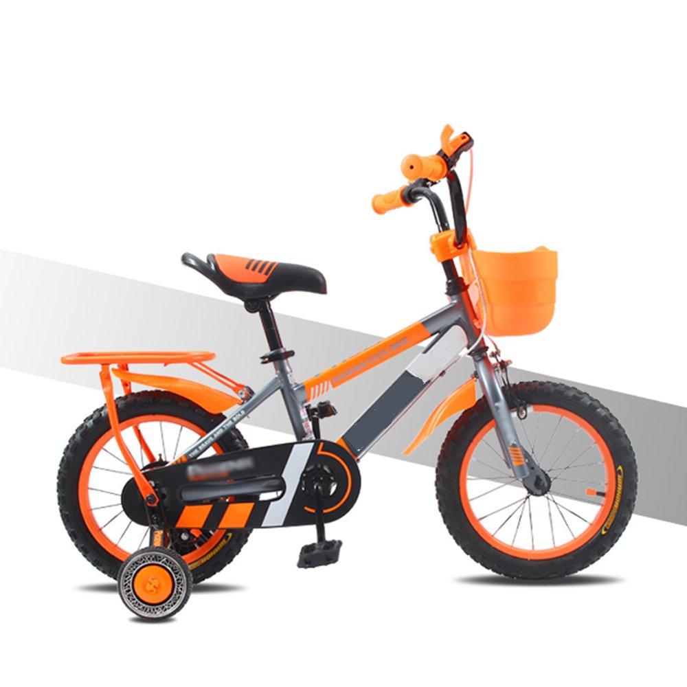 HAIZHEN マウンテンバイク 子供用自転車3/6/9歳男の子用ベビーカー12/16/14/18インチ男の子用自転車 新生児 B07C63XVPNオレンジ 18 inch