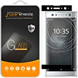 Supershieldz for Sony (Xperia XA2 Ultra) Tempered Glass Screen Protector, (Full Cover) (3D Curved Glass) Anti Scratch, Bubble Free (Black)