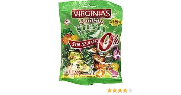 Bolsa de caramelos virginias fruitsin sin azúcares stevia 100 g: Amazon.es: Alimentación y bebidas