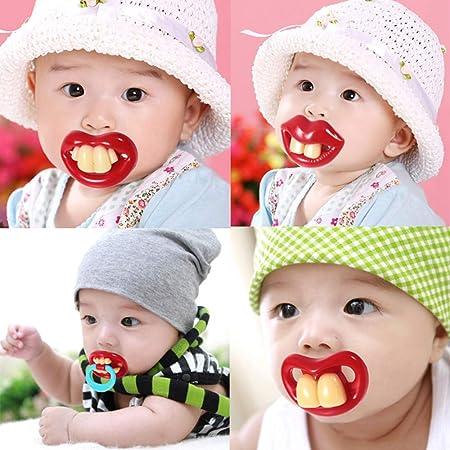 Creativo Dientes Grandes pezones Chupete para el beb/é reci/én Nacido Regalo Libre de BPA GerTong Chupete Divertido para el beb/é reci/én Nacido Infantil XL