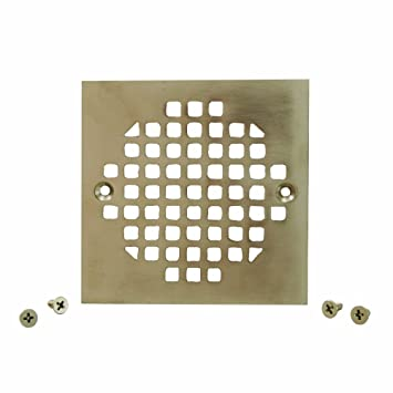 Plumbest C60 83BN Square Cast Brass Strainer, Brushed Nickel