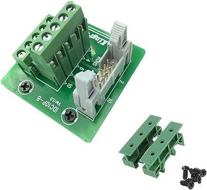 IDC-10 Male Header Connector Breakout Board Adapter
