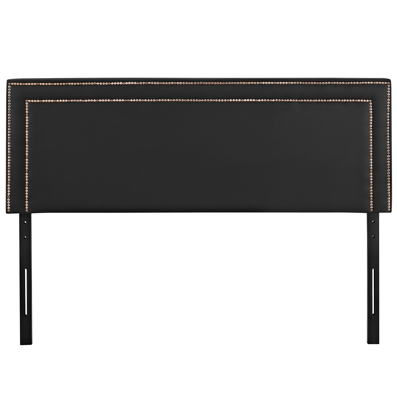 Modway Jessamine Upholstered Vinyl Headboard Full Size With Nailhead Trim In Black