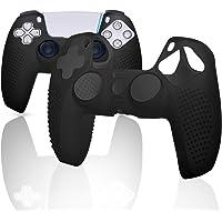 Capa de silicone para controle PS5, capa para controle PS5, acessórios para controle PS5 – Preto