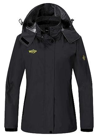 Wantdo Women s Outerwear Mountain Waterproof Jacket Hooded Hiking  Sportswear 8cdebfffe2e6