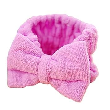 Amazon.com   Fashion Women Beauty Makeup Bow Headband Bath Wash Face Hairdo  Elastic Towel Headwear Female Hair Holder Bands Headpiece Gift   Beauty 127bb17cf972