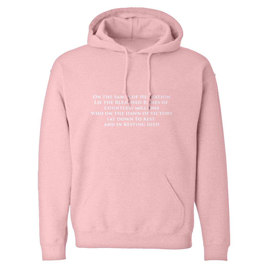 Indica Plateau Hoodie On The Sands of Hesitation Large Light Pink Hooded Sweatshirt