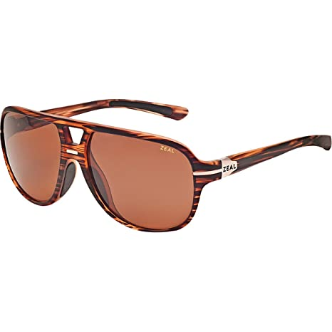 9f19c9dbc0 Zeal Optics Darby Polarized Sunglasses - Matte Wood Grain Frame with Copper  Lens  Amazon.ca  Sports   Outdoors