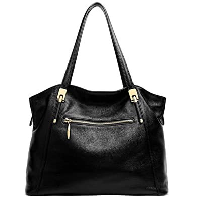 Cluci Leather Handbags Designer Tote Satchel Shoulder Bag Purse for Women