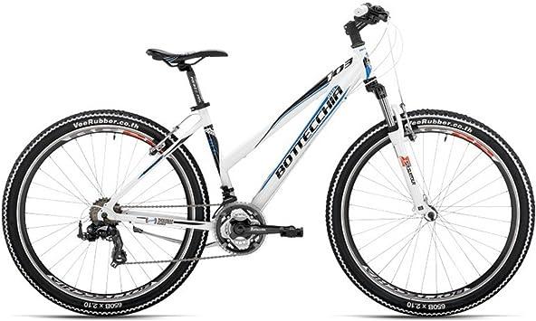 Bicicleta de montaña de mujer 103 650B MTB Botteccia Shimano TX55 Tourney 822.96 cm 21 2121 velocidades de 43 cm Blanco blanco: Amazon.es: Deportes y aire libre