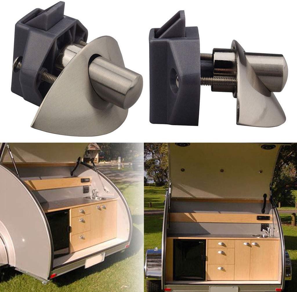 Almencla Push Lock Druckschloss M/öbelschloss T/ürschloss aus Zinklegierung f/ür Boot Marine RV Wohnmobil