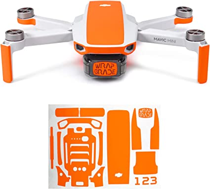 Amazon Com Wrapgrade Skin Compatible With Dji Mavic Mini Accent Color Neon Orange Toys Games