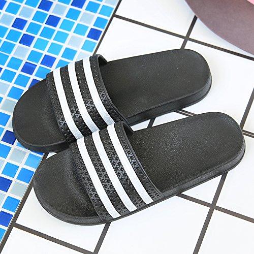 Verano Antideslizante Cubierta Parejas Negro Baño Suave y Zapatillas Verano Macho Inferior Hembra Estancia Cool Zapatillas fankou Baño 44 Home 43 6vwI7qfx