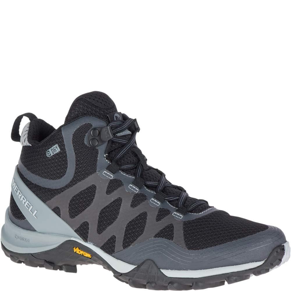 Merrell Women's Siren 3 MID Waterproof Hiking Shoe, Black, 05.5 M US by Merrell