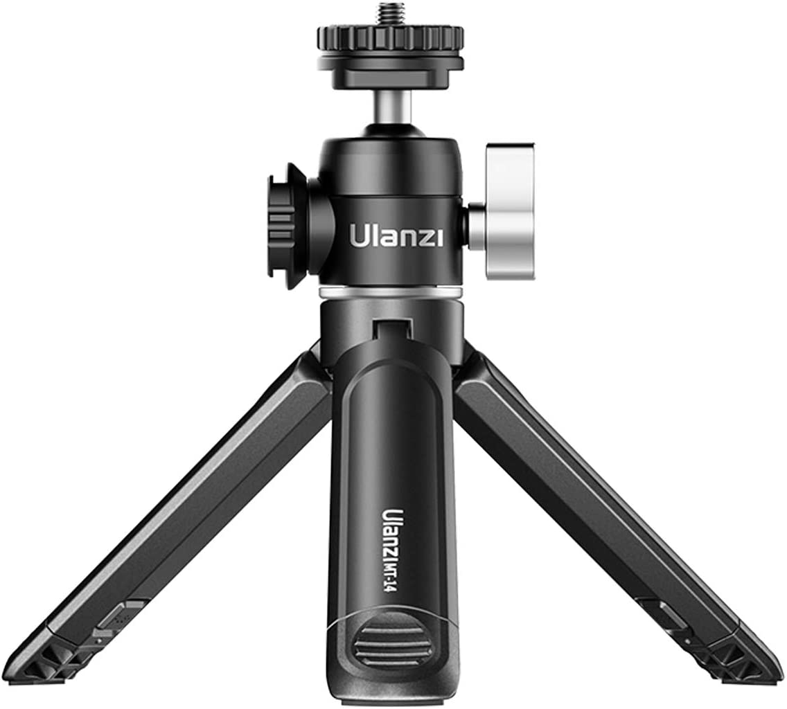 Mini Tripod PICTRON MT-14 Mini Camera Tripod with 360° Ball Head & Cold Shoe, Extendable Small Selfie Stick Tabletop Tripod for Camera iPhone Android Projector Monopod Webcam DSLR Gopro : Camera & Photo
