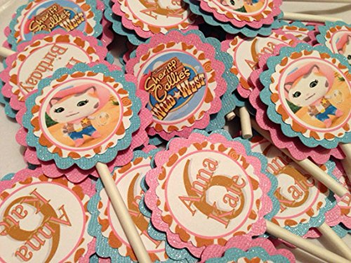 New....Inspired SHERIFF CALLIE Personalize Cupcake Toppers. Ships in 1/2 Days.]()