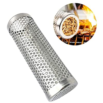 Outgeek 6in Pellet Smoker Tube Stainless Steel Creative Grill Supplies Grill Smoker Tube : Garden & Outdoor