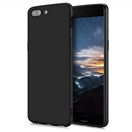 sports shoes b3fd2 ee14f Tarkan Royal Slim Flexible Soft Back Case Cover For OnePlus 5 [Matte Black]  360 Degree Coverage