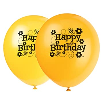12quot Latex Bumble Bee Birthday Balloons
