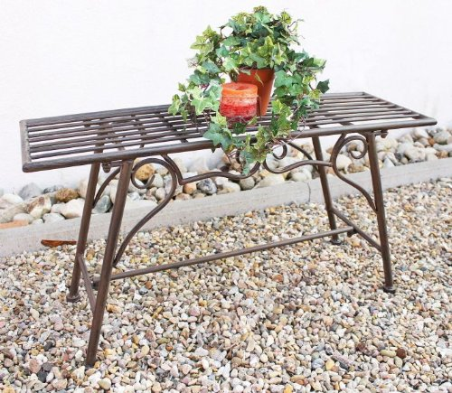 "Bench Seat ""CUCCIO-S"" B-83 cm 77824 Garden bench made from metal Garden furniture For Sale"