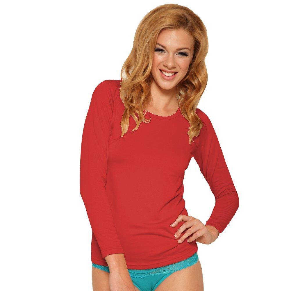 Angelina Women's Fleece Lined Long Sleeve Thermal Top T7915