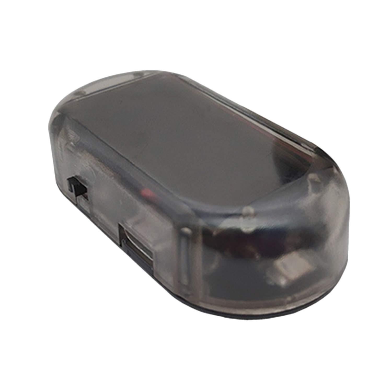 Car Alarm LED Light, Elisona Solar Powered Anti-Theft Dummy Alarm System LED Light for Car Vehicles Trucks RV Sedan Motor Automobile Random Color Elisona ca