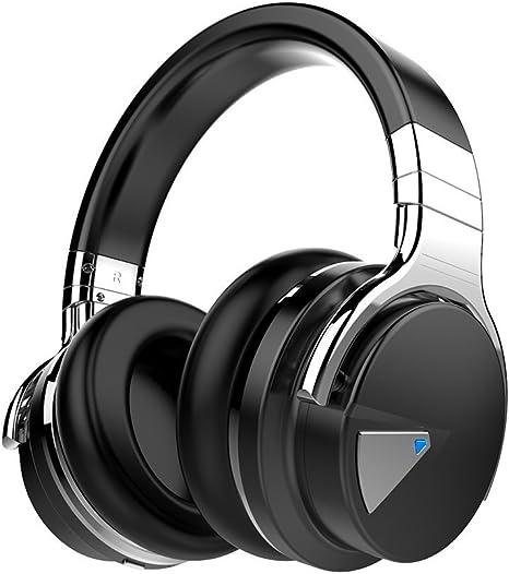 COWIN E7 Auriculares inalámbricos Bluetooth con bajos profundos, Almohadillas de Protección Cómodo, 30 Horas de Tiempo de Juego para Viajes (Negro): Amazon.es: Electrónica