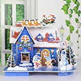 Merry Christmas 3D Jigsaw Puzzles 3D Architecture Houses Magic Puzzle For Kids Handmade Creative Assemble Dream House