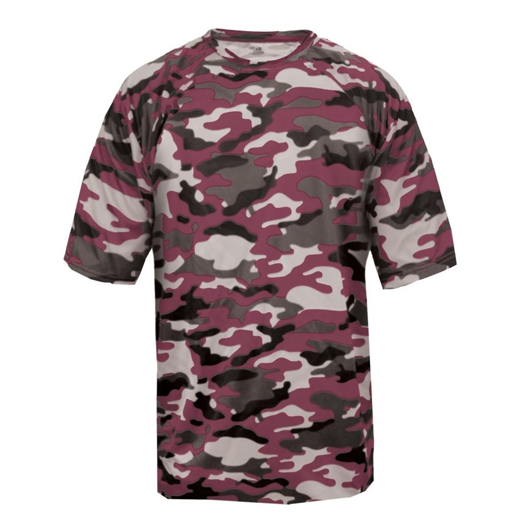 Badger Sport Youth Camouflage Tee (X-Small, Maroon Camo) by Badger Sport