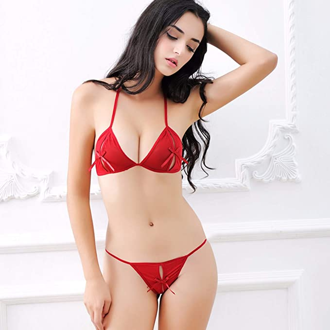 441d3ad62 Sexy Lingerie for Women Sexy Three-Pointed Transparent Underwear Bra Set  Three-Point Sexy