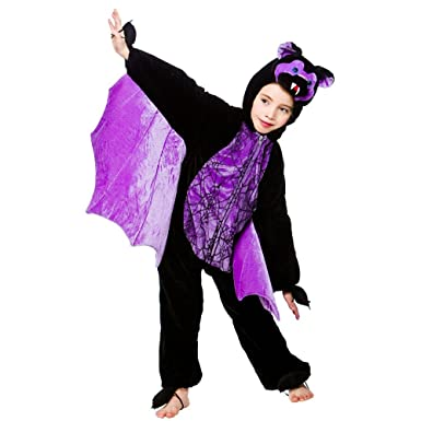 childrens scary bat halloween animal fancy dress costume ages 3 to 10 yrs 7 8
