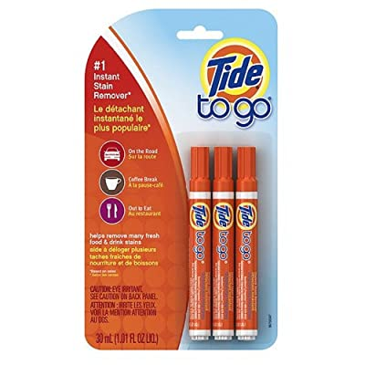 Tide to Go Instant Stain Remover Pens 3 ea (Pack of 1), White: Health & Personal Care
