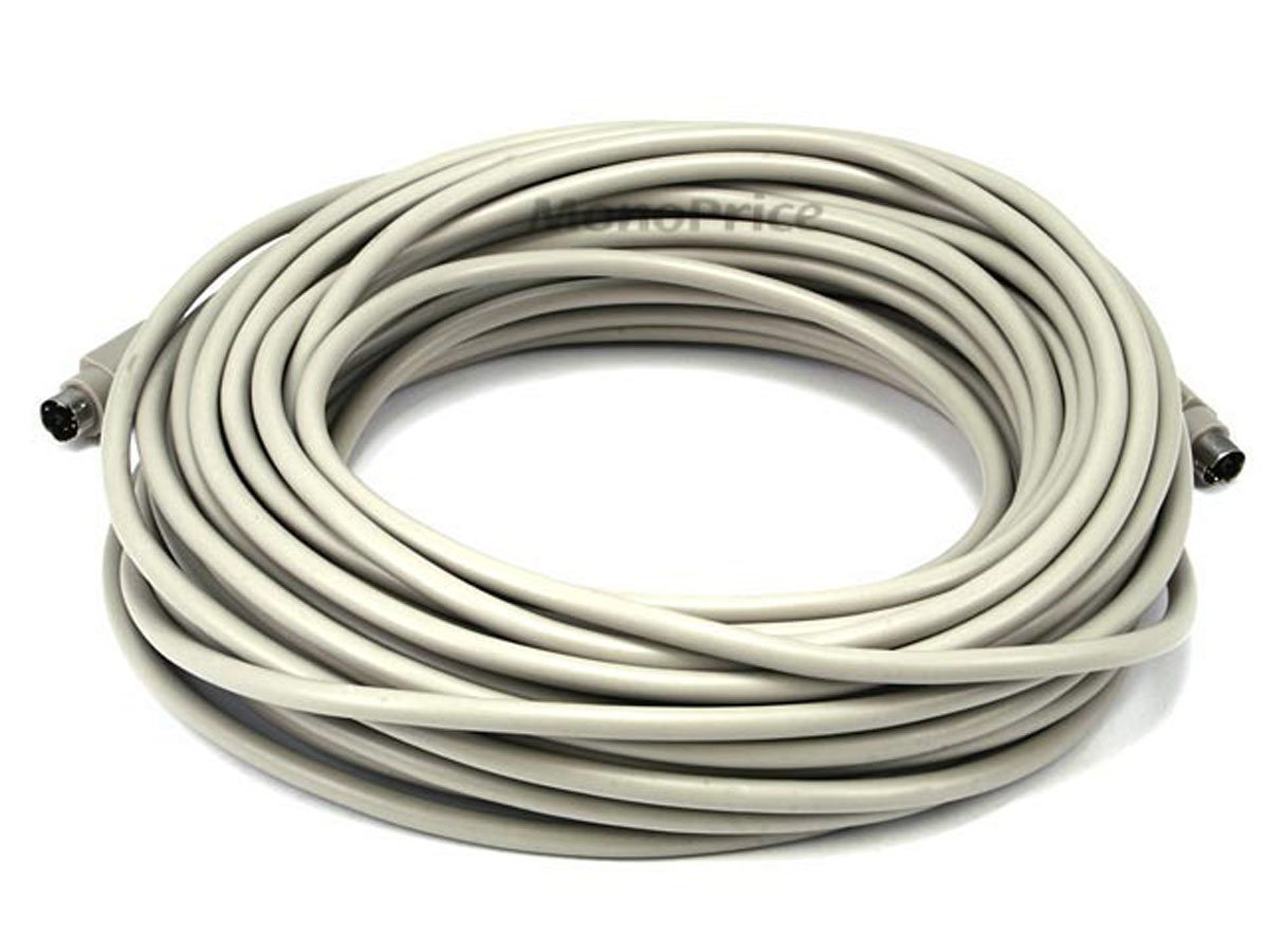 Monoprice 102539 50-Feet PS/2 MDIN-6 Male to Male Cable (102539)