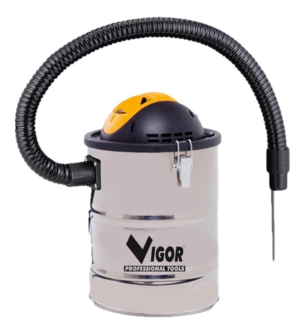 Vigor 99332-05 Bidone Aspiracenere in INOX, 15 l, 800 W Viglietta Group