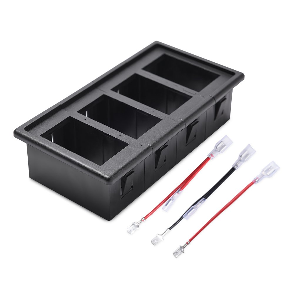 MICTUNING Rocker Switch Panel Holder Housing Kit with Jumper Wire ...