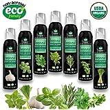 The Herb Garden ( 7 Assorted Simply Beyond Organic Spray-On Herbs Seasoning - Garlic, Basil, Oregano, Rosemary, Cilantro, Thyme, Lemongrass)
