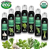 The Herb Garden (7 Assorted Simply Beyond Organic Spray-On Herbs Seasoning - Garlic, Basil, Oregano, Rosemary, Cilantro, Thyme, Lemongrass)