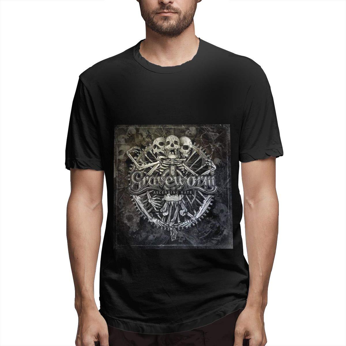 Lihehen Mans Graveworm Simple Casual Round Neck Ts Shirts