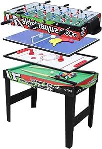 AIPINQI mesa de juego multifunción 4 en 1, mesa de billar, mesa de ...