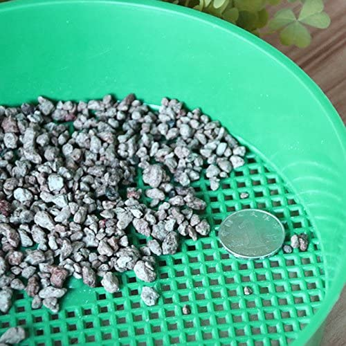 Large Plastic Round Garden Sieve Riddle Soil Sifter Mesh Gardening Green