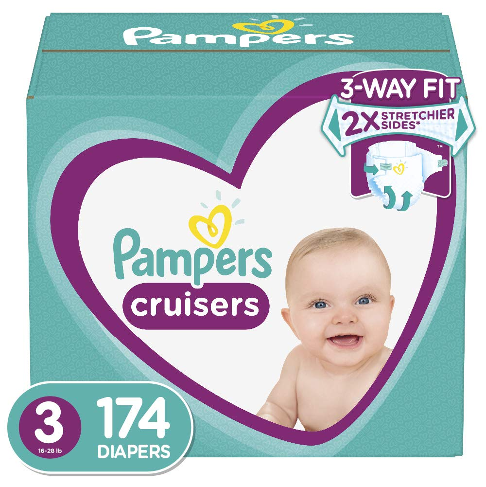 Diapers Size 7, 88 Count – Pampers Cruisers Disposable Baby Diapers, ONE Month Supply