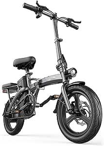 Amazon.com : HLeoz 14'' Electric Folding Bicycle, Electric
