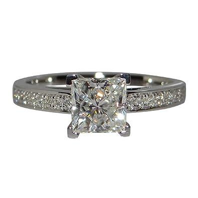 Buy Rings Barlingrock Princess Luxury Square Diamond Engagement