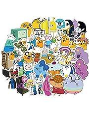 Anime Stickers Adventure Time tecknad Visa Vattentät klistermärken för Laptop Kylskåp Telefon Skateboard Resväska 50st Heminredning