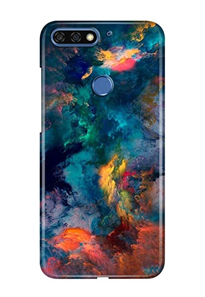 new arrival c1ee5 a6ccf Knotyy DC1266 Printed Back Cover for Honor 7C (Multicolor)