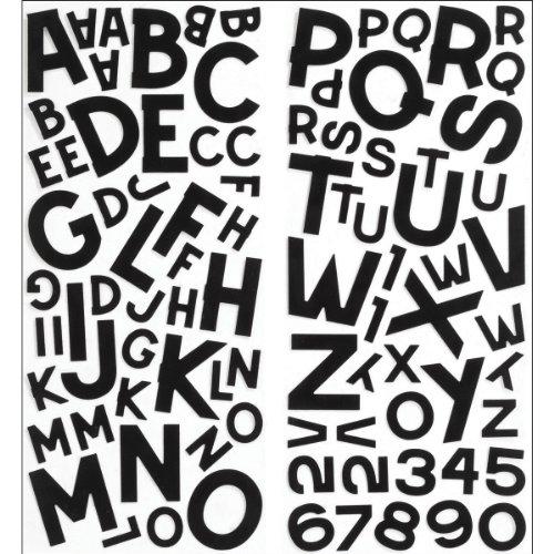 Sticko Block Alphabet Stickers, Black