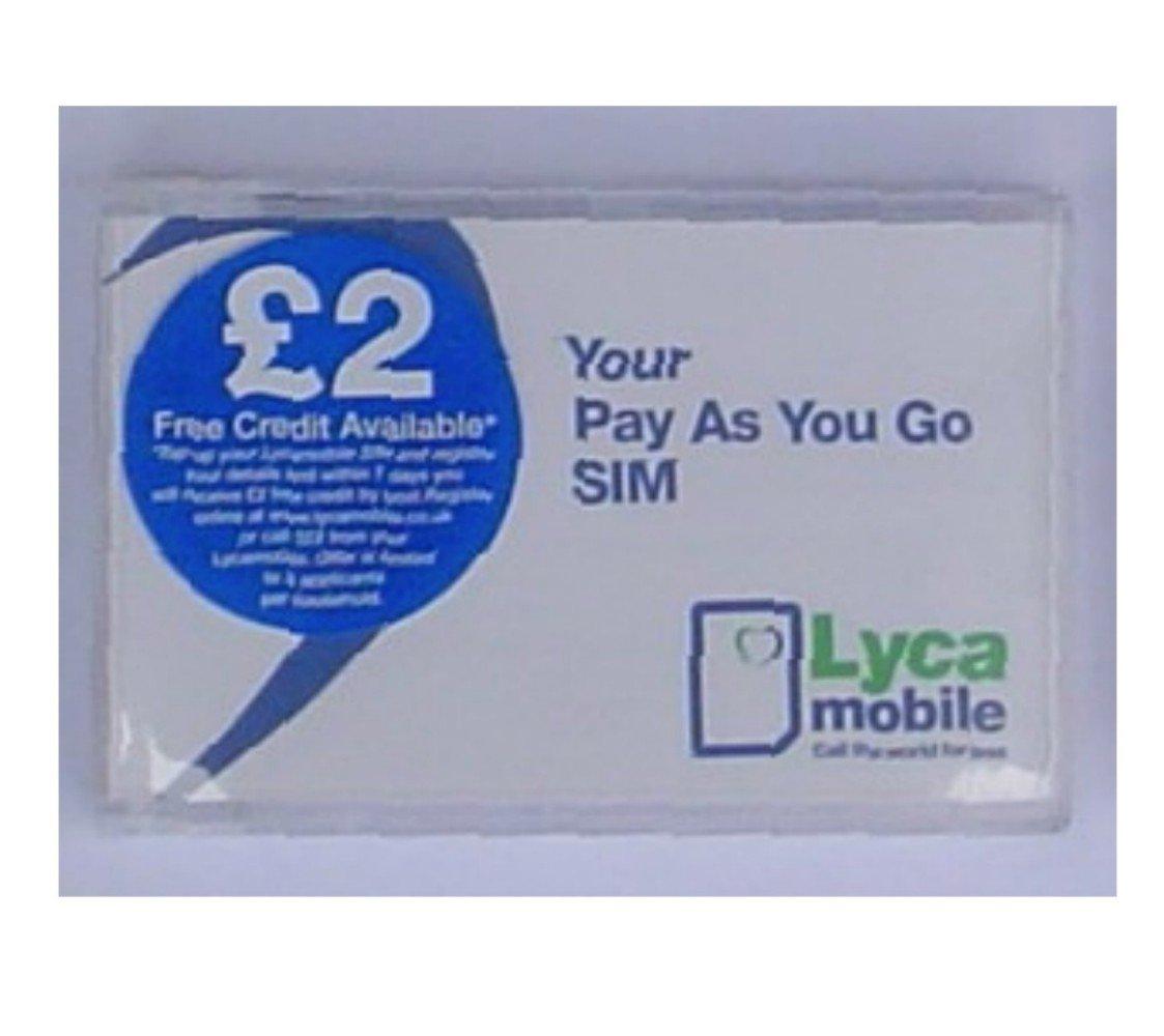 LYCA Pre-Pay Sim Card for Universal: Amazon.es: Electrónica